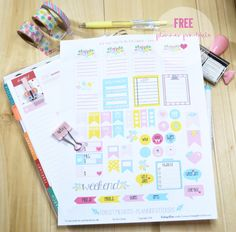 Forget Me Nots Planner Stickers - Free Printable
