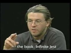 """Highlights from The Charlie Rose Show: """"A conversation about the future of fiction in the information age with David Foster Wallace, author of """"Jest"""", Jonath. David Foster Wallace, Writing Poetry, Writing Advice, Charlie Rose Show, The Fosters, Heaven Book, Information Age, Dark Matter, Creative Writing"""