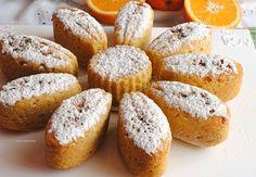 tortine di pan d'arancio all'acqua con farina integrale