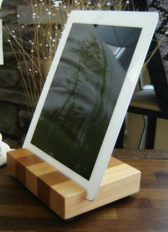 iPad Docking Station by andrewsreclaimed on Etsy. I am thinking DIY Project Gift idea.