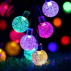"""EasyDecor Outdoor Solar Powered String Lights 8Mode, 21ft 30LED. I also love decorating natural trees at our campsite (you know, the real ones still living in nature) because they are no-fuss when the camping trip is over. Just """"un-decorate"""" the tree and … BOOM … you're done! No packing required except for the decorations which, in my case, are Solar Powered Outdoor String Lights that are designed to be used in the elements."""