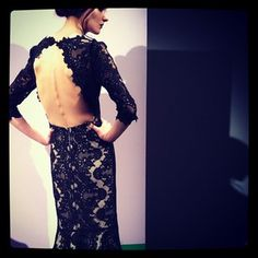 Backless lace gown by Alice + Olivia. Photo by Elva Ramirez