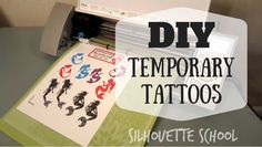 DIY Temporary Tattoos by My Paper Craze for Silhouette School diy tattoo temporary DIY Temporary Tattoo with Silhouette Make Temporary Tattoo, Diy Tattoo Permanent, Custom Temporary Tattoos, Silhouette Curio, Silhouette Machine, Silhouette Vinyl, Cameo Tattoo, Tattoo Diy, Diy Fake Tattoo