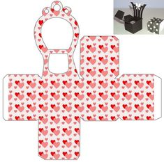 caixa CADEIRA Diy Paper, Paper Crafts, Diy Barbie Furniture, Baby Shower Crafts, Printable Box, Writing Paper, Diy Box, Paper Decorations, Box Design