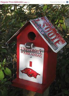 25% Off Today Arkansas Razorbacks Birdhouse Order by Dec 18th to get them b4 Christmas
