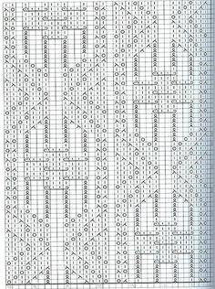Схема узора, напоминающего бабочек. Вязание спицами