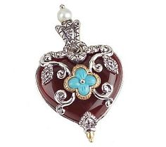 Barbara Bixby Carnelian Heart Enhancer, Sterling/18K Gold - $183.00