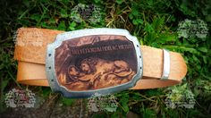 WildWildWest Belt Buckle by Turi Shop Bruettisellen with natural Leather Inlay. Natural Leather, Belt Buckles, Shopping, Seat Belt Buckle, Belt Buckle