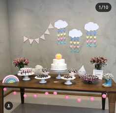 Party Props, Party Themes, Baby Shower Parties, Baby Boy Shower, Sunshine Baby Showers, Diy Birthday Decorations, Baby Sprinkle, 1st Birthdays, Unicorn Party