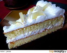 Piškotový řez se šlehačkou, ovocem a krokantem Cupcake Cakes, Cupcakes, Individual Desserts, Vanilla Cake, Tiramisu, Cheesecake, Ethnic Recipes, Food, Treats