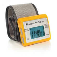 Shake-n-Wake ZZZ Vibrating Alarm Clock Watch - Orange - click to view larger image