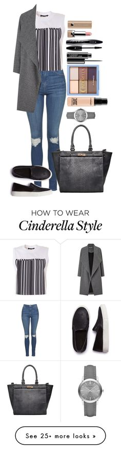 """Untitled #1444"" by fabianarveloc on Polyvore featuring Topshop, Alexander Wang, Miss Selfridge, SELECTED, Lancôme, Marc Jacobs, MAC Cosmetics and Burberry"