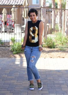 Casual Kinda Day + Studded Sneaks - Mimi G Style
