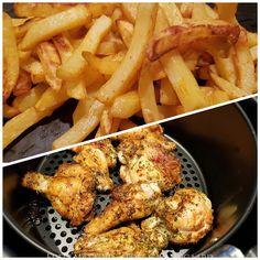 Edels Mat & Vin: Kylling og pommes frites tilberedt i AirFryer ♫ Luftfrityrkoker ! Feta, Chicken, Baking, Bakken, Backen, Postres, Buffalo Chicken, Pastries, Roast