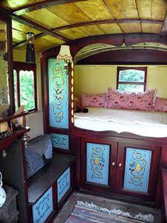 Reading Caravan interior