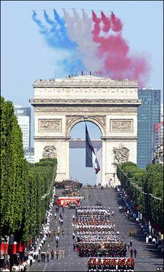 Bastille Day parade-  - for more inspiration visit http://pinterest.com/franpestel/