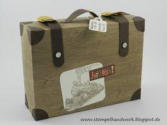 Stempelhandwerk: Reisegutschein im Koffer - Stampin up!