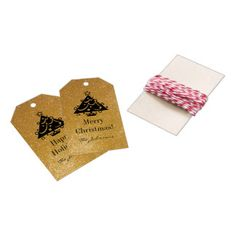 Custom chic gold glitter Christmas tree gift tags Pack Of Gift Tags