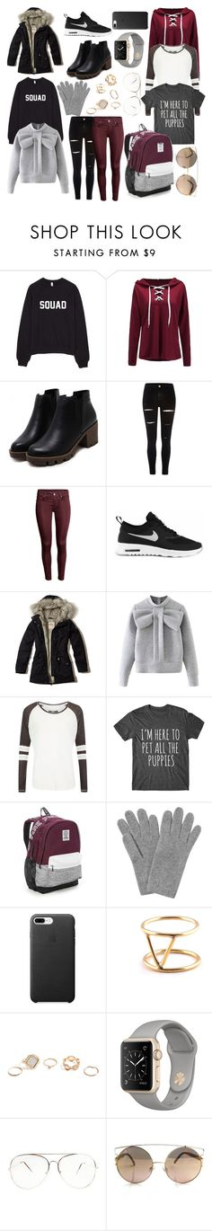 """""""5 days in Sweden"""" by elizcoco ❤ liked on Polyvore featuring River Island, NIKE, Hollister Co., WithChic, Superdry, Victoria's Secret, L.K.Bennett, SOKO and GUESS"""