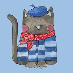 Le chat ❤ Susan Black Design 💙