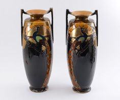 PAIR OF THOMAS FORESTER PHOENIX WARE VASES : Lot 1016