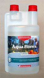 Canna Aqua Flores B 1 liter AQUA FLORES In the brief but exuberant blooming period of a plant, it is vital that nutrients are directly available and properly composed. AQUA VEGA stimulates fructification and contains all the nutrition that a plant needs during the blooming phase.