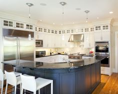 Round Kitchen Island Design, Pictures, Remodel, Decor and Ideas - page 3