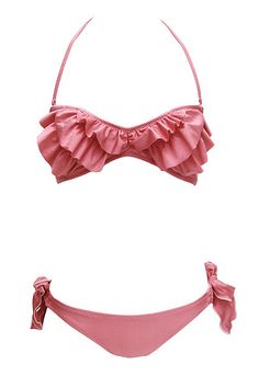 7ad31206147 Super cute swimwear Χαριτωμένα Μπικίνι, Βολάν, Εσώρουχα, Ενδυμασία,  Γεγονότα, Μαγιό,