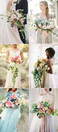 24 Utterly Romantic Fine Art Style Bridal Bouquets!