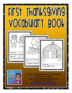 The First Thanksgiving Vocabulary booklet