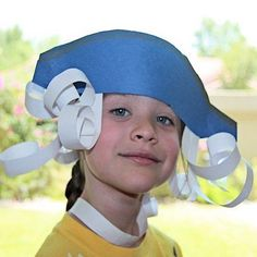 George Washington Tri-Corner Hat with Paper Hair