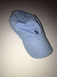 a2a863281e0 POLO RALPH LAUREN - One Size Fits All - COTTON Blue Baseball Cap Hat w
