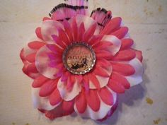 Pink Breast Cancer Ribon Find a Cure Bottle Cap by SweetieBeads, $8.00