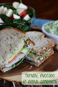 Our Turkey, Avocado and Apple Sandwich dressed with fresh avocado aioli tastes too good to be true while still boasting amazingly natural ingredients! #OscarMayerNatural #sponsored