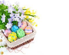 Праздники Пасха Яйца Корзинка