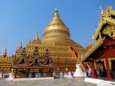 Shwezigon Pagoda in Nyaung-U - Celina Lisek Bagan, Taj Mahal, Temple, Tourism, Turismo, Temples, Travel, Traveling
