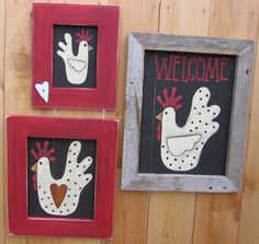 Free Tole Painting Patterns Chickens | Tole Painting Pattern Welcome Chicken DIY by barbsheartstrokes