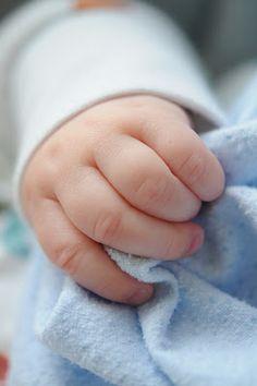 Precious baby hands.