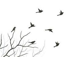 Original Watercolor Bird Painting, Flying Birds and Tree Branch Silhouette, Nature Home Decor, Bird Wall Art, Black Tree Branch Art X Flying Bird Drawing, Bird Drawings, Flying Birds, Birds Flying Tattoo, Angry Birds, Tree With Birds Tattoo, Dove Flying, Tattoo Bird, Flying Bird Silhouette