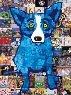 The artist is from Louisiana and you can find a lot of his work around here. I've always liked the Blue Dog, but never knew who did it!