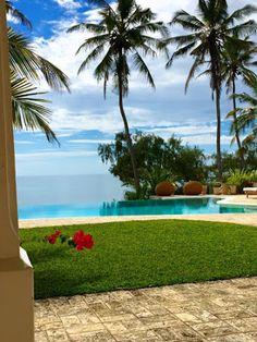 Pool and ocean views at Shwari House, Watamu, Kenya - a spectacular beachfront holiday home available to rent at www.eastafricanretreats.com