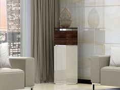 Colonne piedestal, mod: TALLET Curtains, Home Decor, Blinds, Interior Design, Draping, Home Interior Design, Window Scarf, Home Decoration, Decoration Home