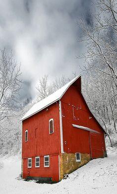 Barn Braving The Storm