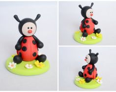 Custom Cake Topper - Ladybug Polymer Clay Cake Topper
