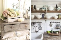 Double Vanity, Interior Design, Decoration, Blog, Home, Wood Beams, Provence Style, Country Home Decorating, Nest Design