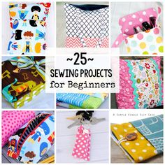 Here are 25 Beginner Sewing Projects that you can try. They are all free patterns and tutorials found online. Perfect easy sewing patterns for beginners.