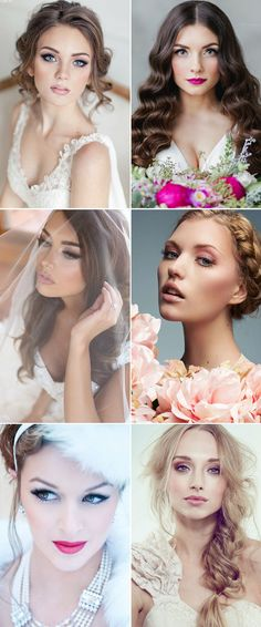 Beautiful bridal make up looks on GS Inspiration - Glitzy Secrets