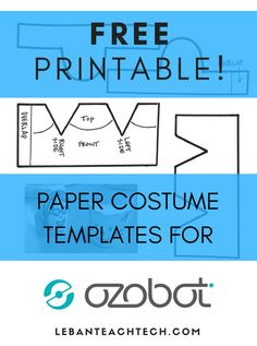 Free Printable Ozobot Costume Template!