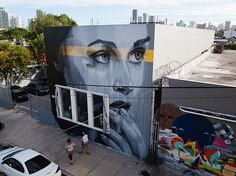 Celestine on NW 24th, Miami - Street Art by Rone  <3 <3