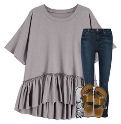 """He is risen!!"" by elizabethannee ❤ liked on Polyvore featuring J Brand, Birkenstock, Dorothy Perkins and Kendra Scott"